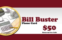 Bill Buster Phonecard $50