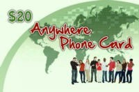 Anywhere Phone Card $20