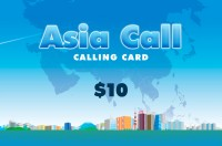 Asia Call Phone Card $10