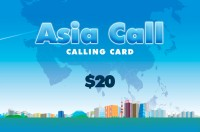 Asia Call Phone Card $20