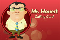 Mr Honest calling card