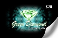 Green Diamond Calling Card $20