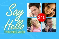Say Hello phone card $10