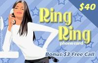 RingRing Calling Card $40