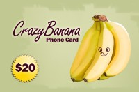 Crazy Banana Phone Card $20
