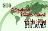 Anywhere Phone Card $10