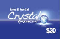 Crystal Phone Card $20