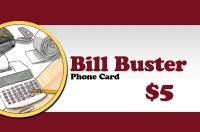Bill Buster Phonecard $5