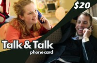 Talk Talk Phone Card $20
