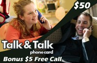 Talk Talk Phone Card $50