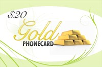 Gold Phone Card $20