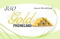 Gold Phone Card $50