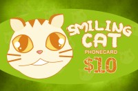 Smiling Cat Phone Card $10