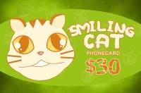 Smiling Cat Phone Card $30
