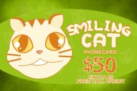 Smiling Cat Phone Card $50