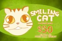 Smiling Cat Phone Card $50