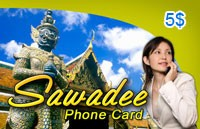Sawadee Phone Card $5