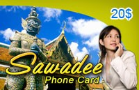 Sawadee Phone Card $20