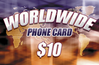 Worldwide Phone Card $10