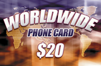 Worldwide Phone Card $20
