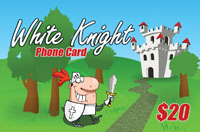 White Knight Phone Card $20