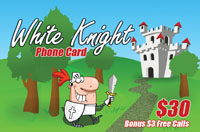 White Knight Phone Card $30