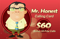 Mr Honest calling card $60